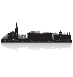 Galway city skyline silhouette vector image vector image