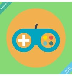 Game controller icon - vector image