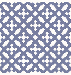 Geometric seamless pattern with rounded crosses vector