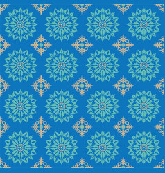 Gothic flowers in blue vector