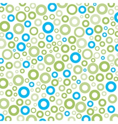Green-blue round circle mix pattern background vector image