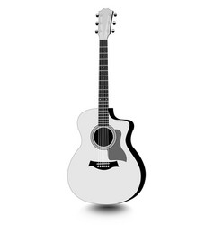 guitar isolated monochrome drawing with shadow on vector image