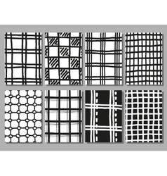 Hand drawing checkered textures vector