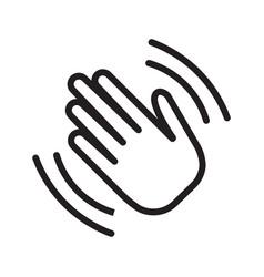 Hand wave waving hi or goodbye flat icon vector