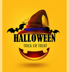 Happy halloween trick or treat party decoration vector