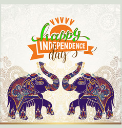 happy independence day of india greeting card vector image