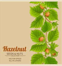 hazelnut pattern on color background vector image