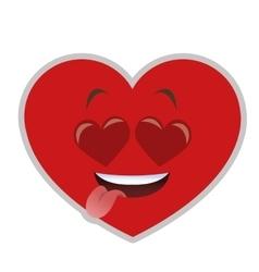 heart eyes heart cartoon icon vector image