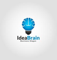 idea brain - smart education logo vector image