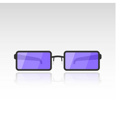 image of sunglasses with purple lenses on a white vector image