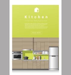 Interior design Modern kitchen banner 3 vector