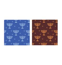 jewish holiday hanukkah seamless pattern with vector image