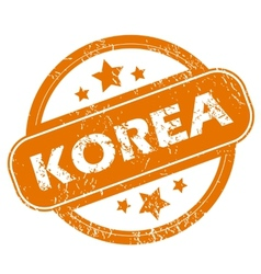 Korea grunge icon vector image