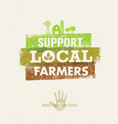 Local food market from farm to table creative vector