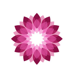 Magenta flower shades symbol graphic geometric vector