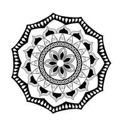 Mandala vintage decoration classic circular design vector