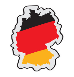 map of germany with its flag vector image