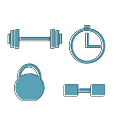 muscle lifting icon fitness barbell gym icon vector image