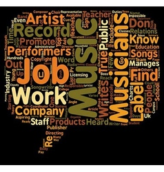 Music Jobs That Most People Don t Know About text vector image