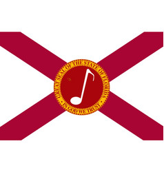 Musical florida state flag vector