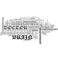 Neurologists word cloud concept vector