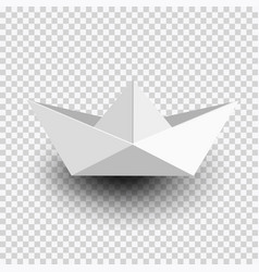 origami white paper shipboat isolated on vector image