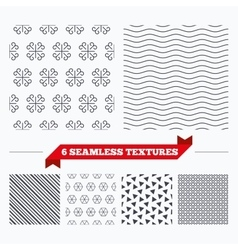 Ornate stripped geometric seamless pattern vector image vector image