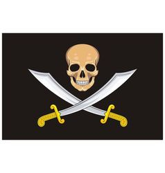 Pirate Flag Jolly Roger vector