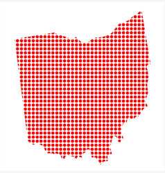 Red dot map of ohio vector