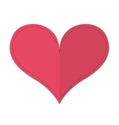 romantic heart isolated icon design vector image