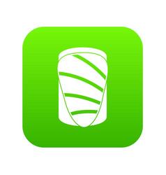Salmon icon digital green vector