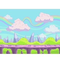 Seamless cartoon landscape vector
