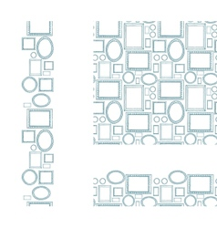 set blank picture frames seamless pattern and vector image