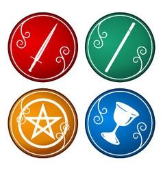 Set of tarot symbol vector