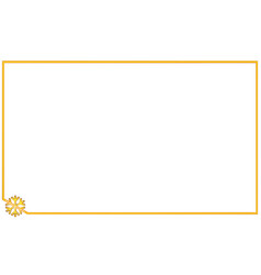 Simple golden frame with corner element snowflake vector