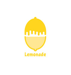 simple yellow logo like lemonade vector image