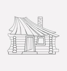 Small hut icon line element vector