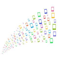Source stream of smartphone vector