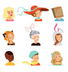 Strange people characters set different funny vector