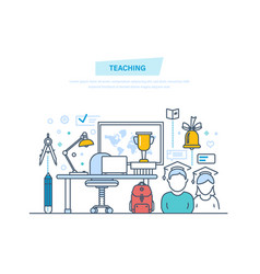 teaching and online education business training vector image