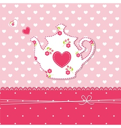 Teapot background vector
