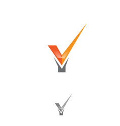 tick that shaped the letter y vector image