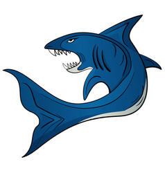 toothy white shark vector image vector image