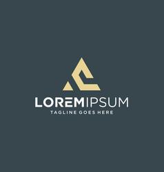 Unique letter abstract logo design inspiration vector