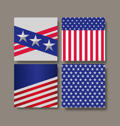 united states of america flags vector image
