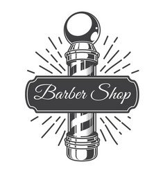 Vintage hairdresser salon monochrome logo vector