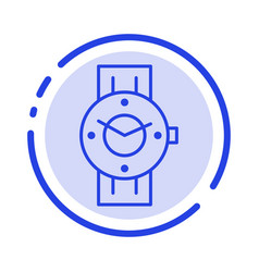 Watch smart watch time phone android blue dotted vector