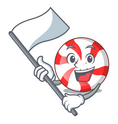 with flag peppermint candy mascot cartoon vector image