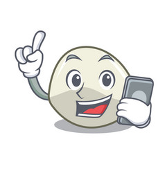 With phone character cartoon homemade organic vector