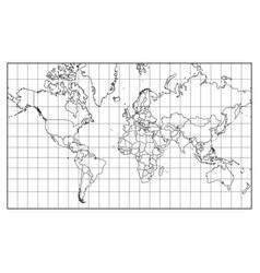 world map isolated on white background vector image